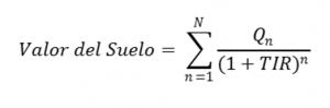 formula tasacion suelo residual dinamico valor del suelo